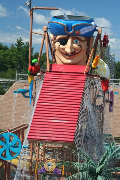 Frontal view of the Pirate Head, Saco.