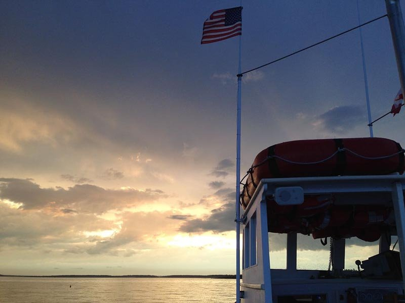 Sunset aboard the M/V MONHEGAN
