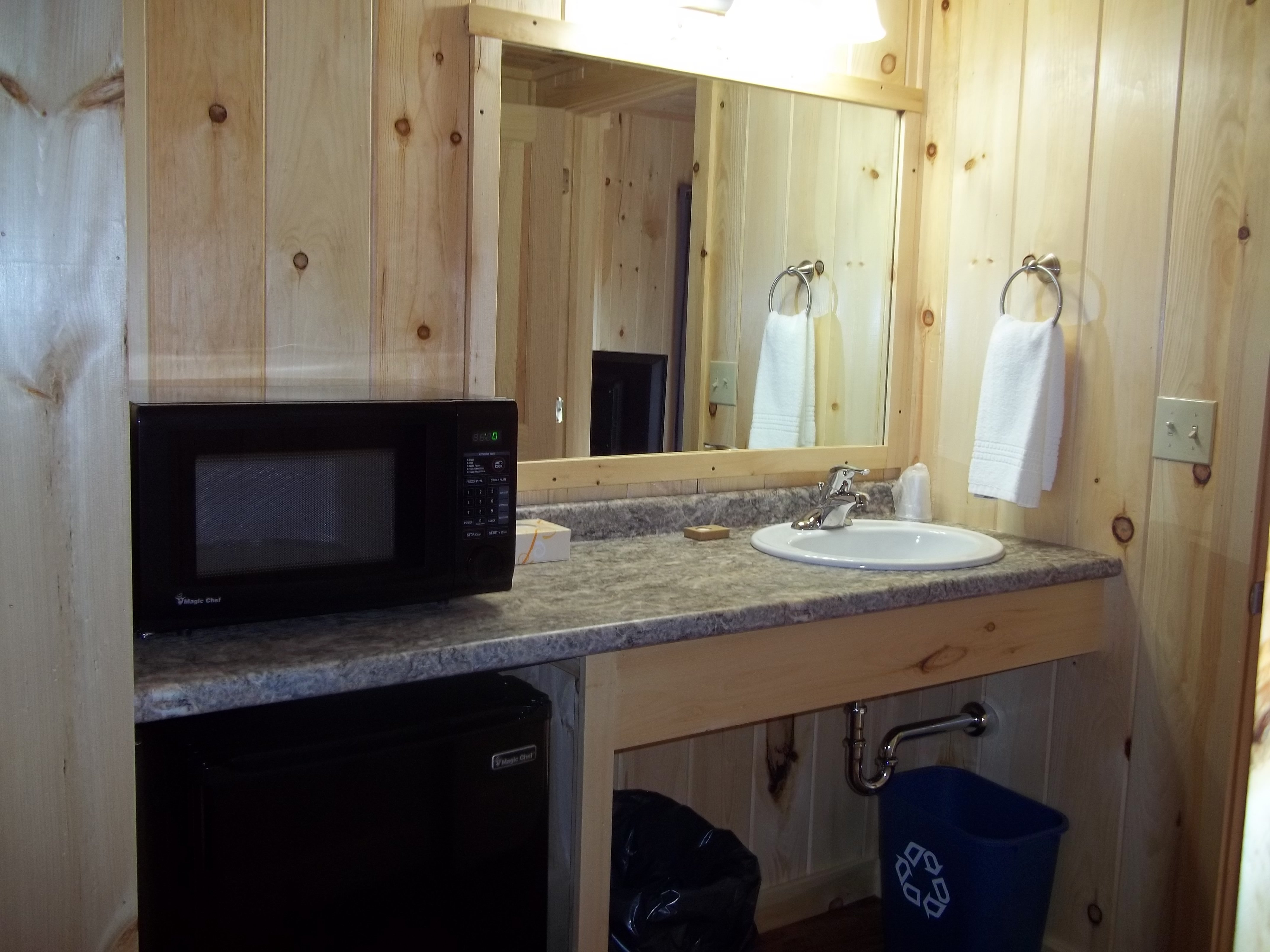 Extra sink, fridge, microwave in cottage suite