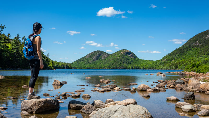 The Bubbles and Jordan Pond are must sees in the park.