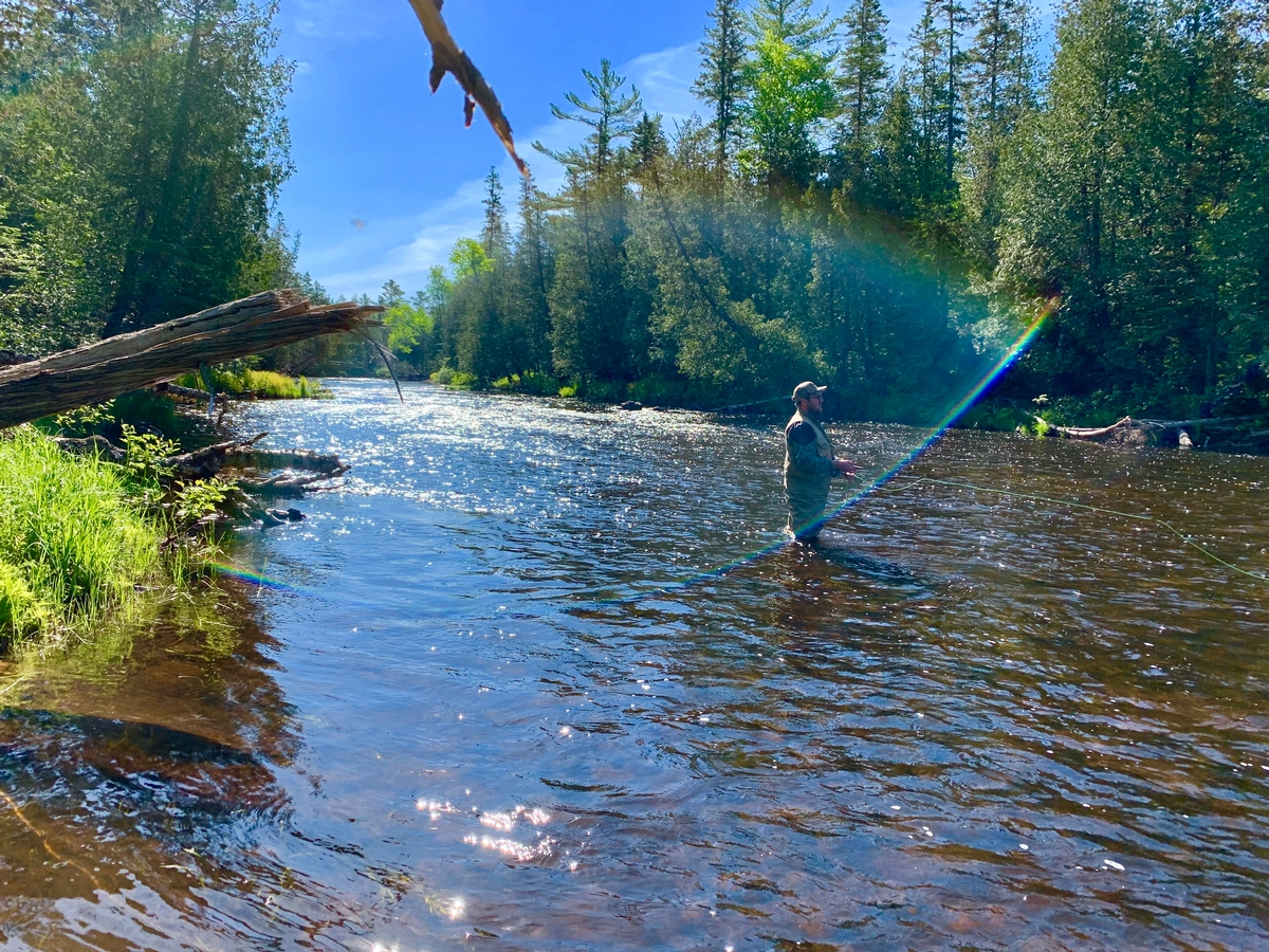Learning to Fly Fish from our Registered Maine Guides at Umcolcus