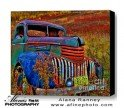 Ghost Truck, HDR Photography printed on canvas, Rusty Old Truck located Downeast, Maine