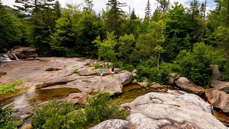 Screw Augers Falls is easily accessible from the Grafton Notch Scenic Byway.