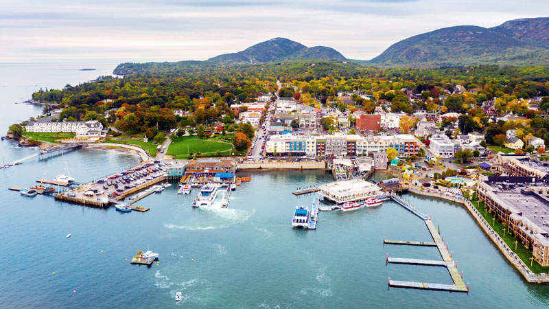 View of the Town of Bar Harbor