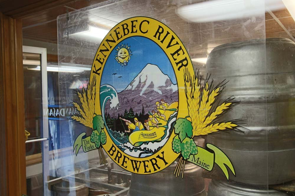 Inside the Kennebec River Brewery brewing operations at Northern Outdoors.
