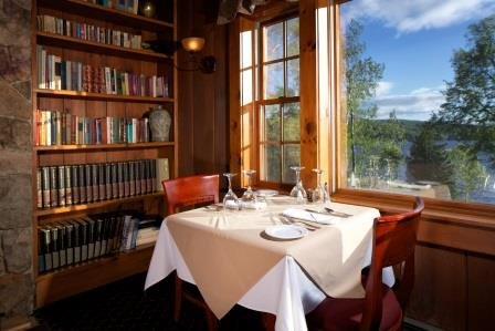 Dining with a view of Rangeley Lake