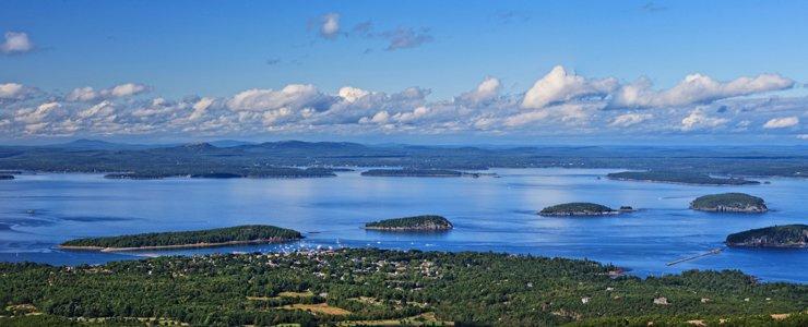 Beautiful lake view from Acadia National Park