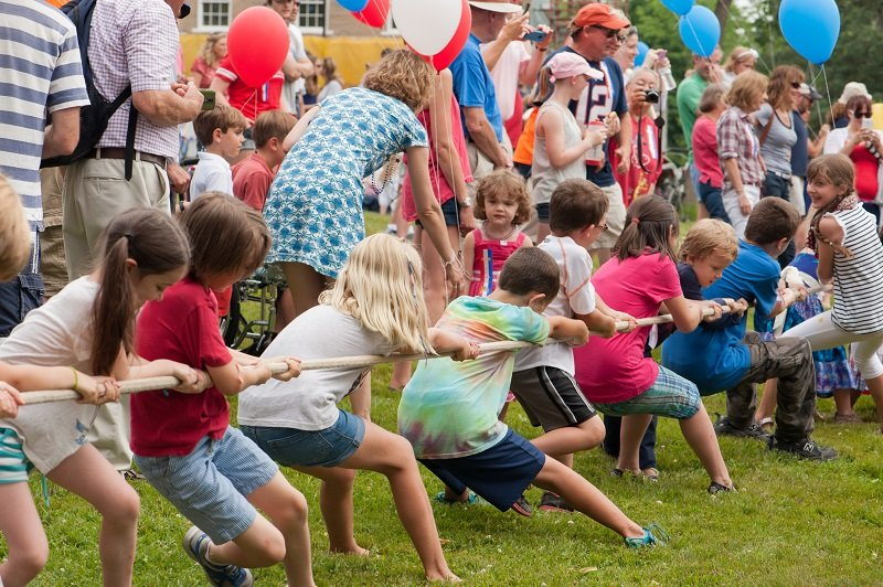 Tug of War at the 4th of July celebration in Castine