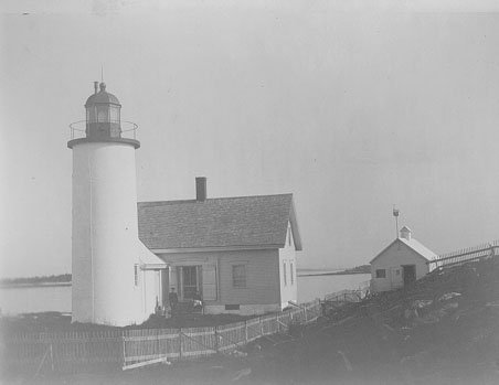 early historic photo of Franklin Island Light Station