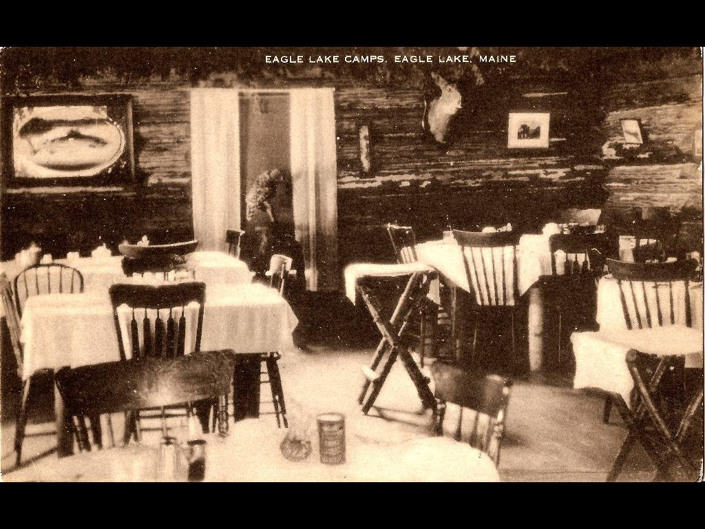 Dining Room 100 years ago. Guest would wear suits and ties to dinner.