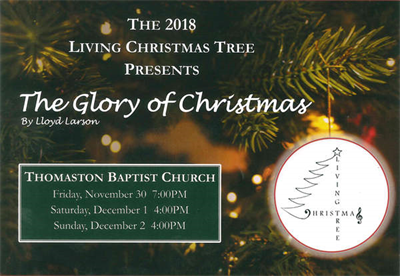The Living Christmas Tree in Thomaston