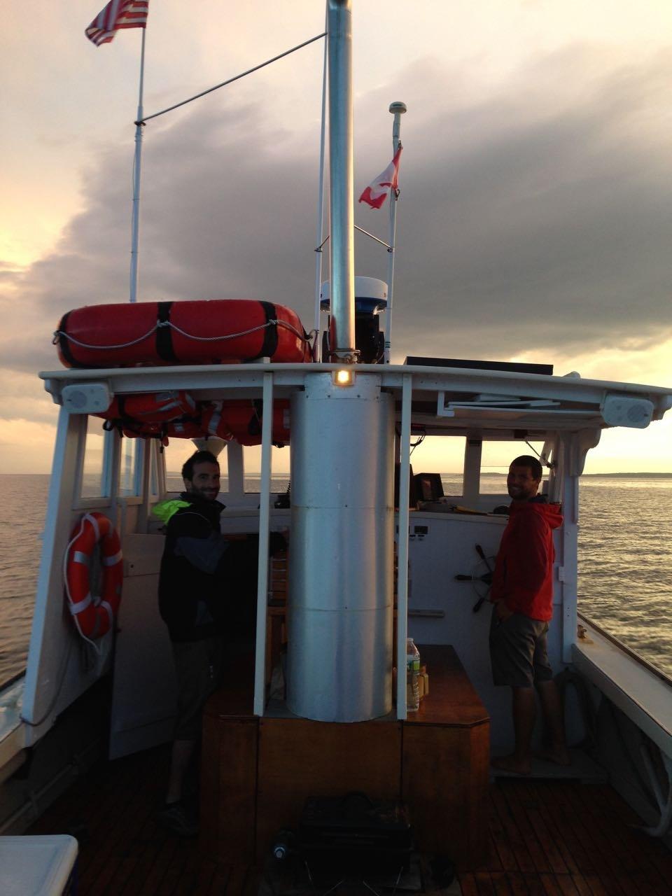 Heading home at sunset aboard M/V MONHEGAN