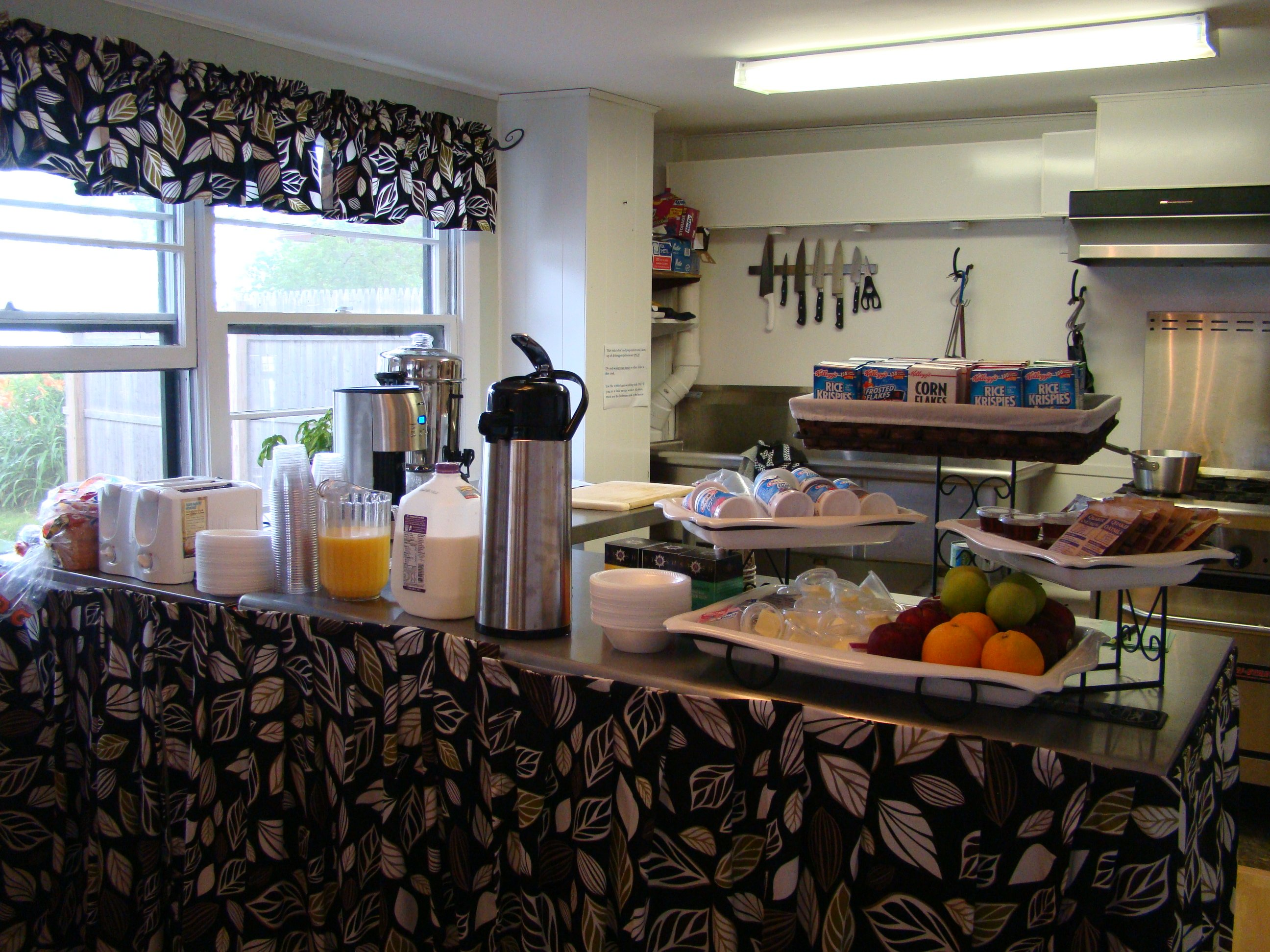 Interior of Bistro where we offer free daily continental breakfast