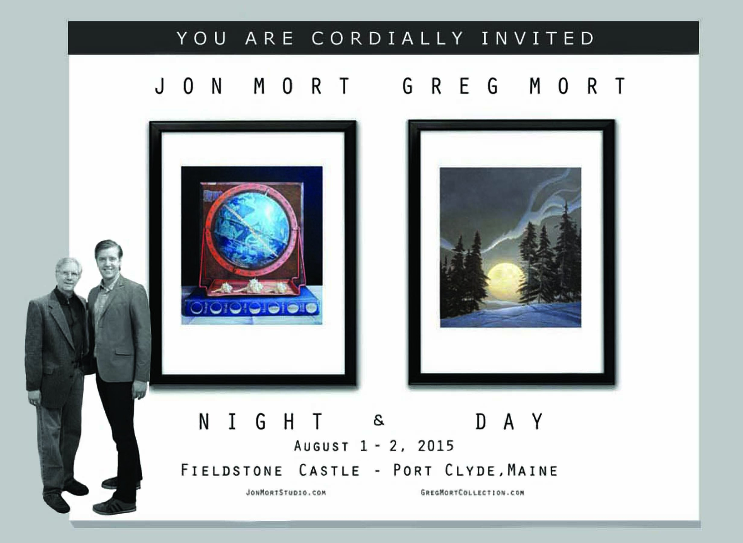 Greg Mort and Jon Mort NIGHT & DAY Open Studio August 1 & 2, 2015 in Port Clyde, Maine