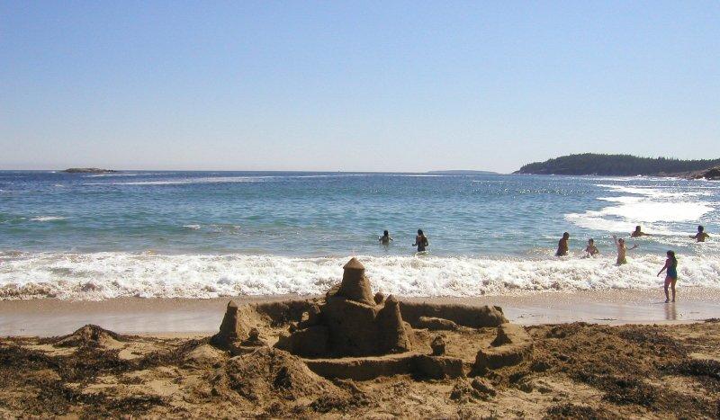 Sand Beach in Acadia National Park.