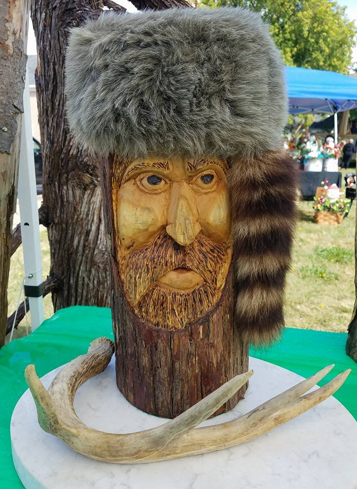 """Camp Keeper Daniel Boone"" comes with a deer antler and marble base."