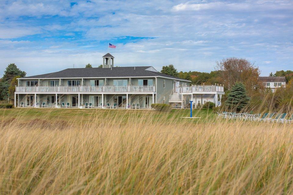 Seaside Inn Exterior View from Beach