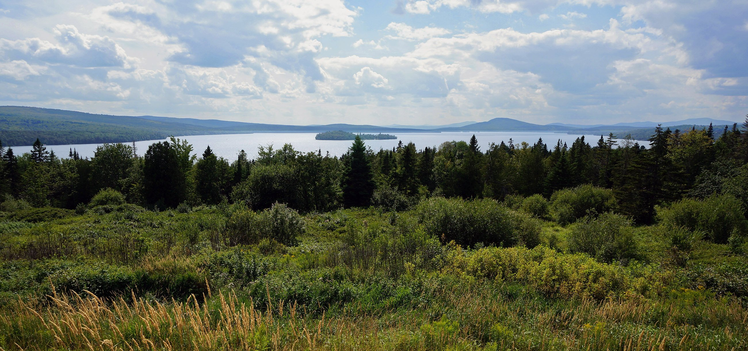 View of Rangeley Lake, one of the region's many lakes, ponds, and waterways.