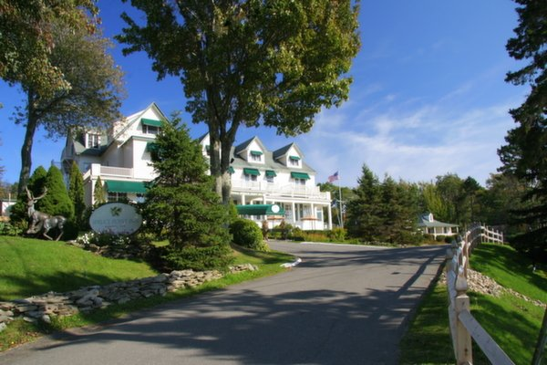 The Front of the Main Inn at Spruce Point Inn Resort, Maine