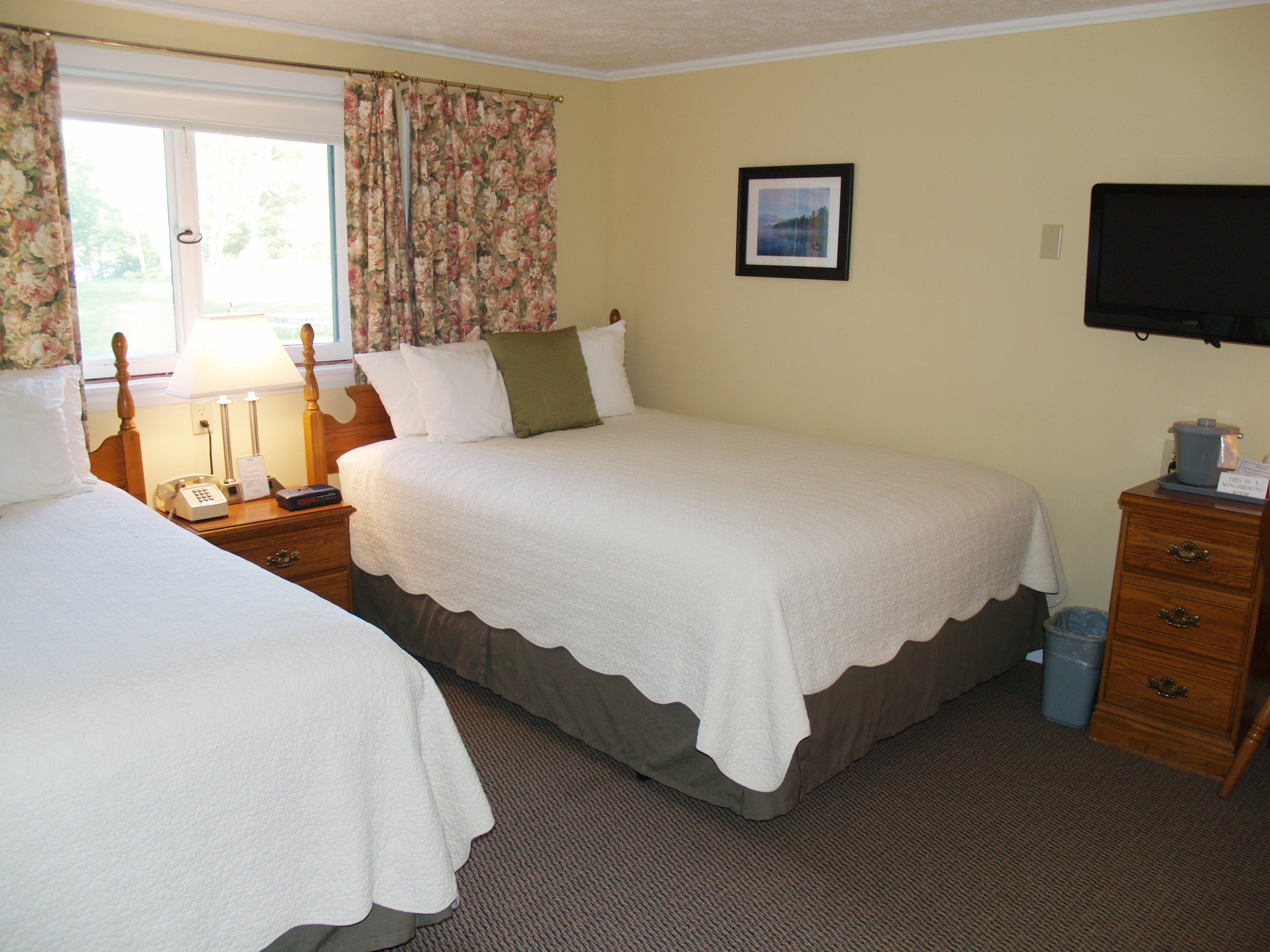 Comfortable, clean and cozy guest rooms.