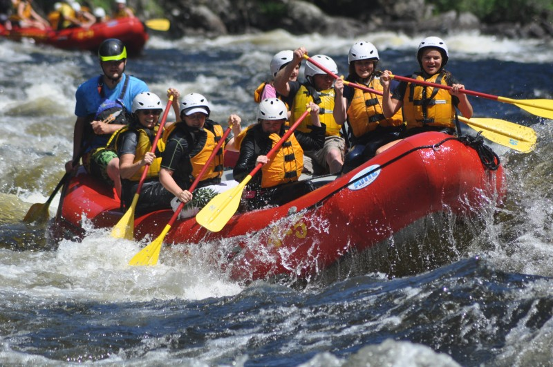 Kennebec River Rafting & Lakeside Lodging Stay