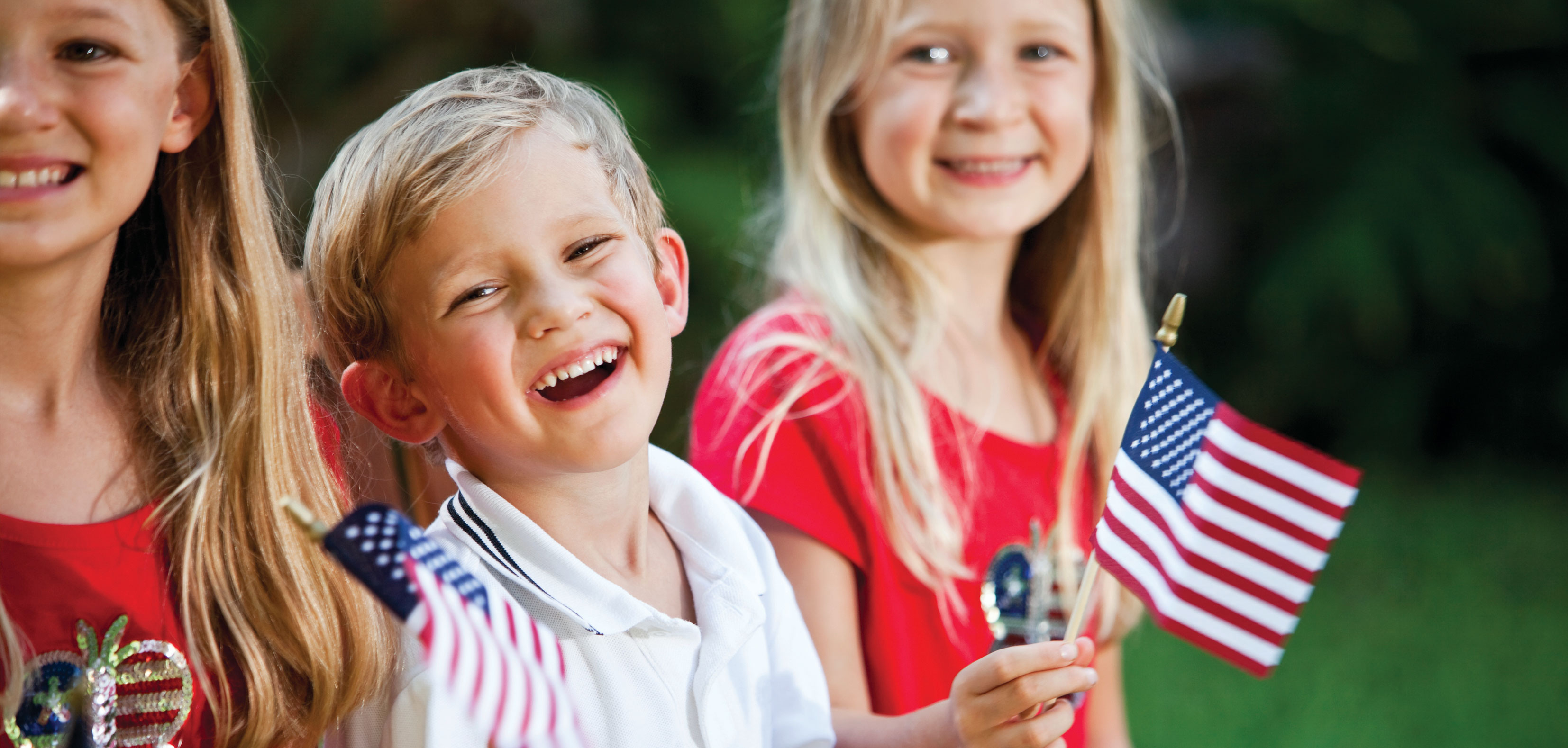 Enjoy a small town 4th of July parade.