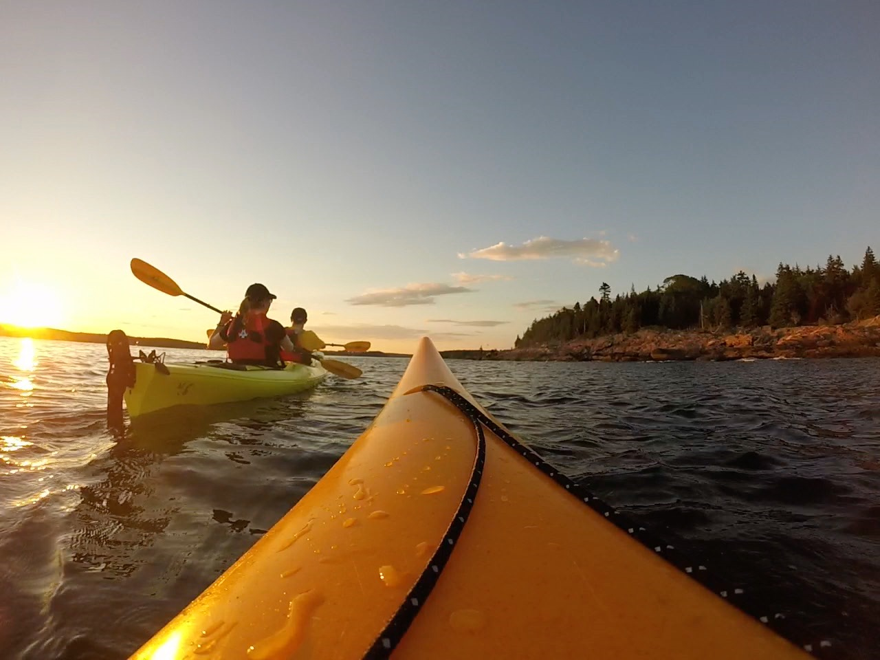 Sea Kayaking Sunset Paddles with Maine Kayak