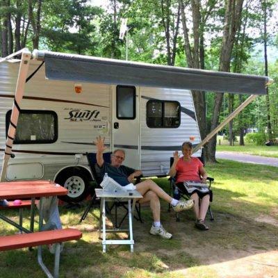 Happy campers enjoying the sunshine.
