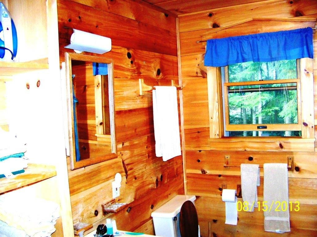 Downstairs Bathroom at Rear of First Floor of Duck Cove Cottage
