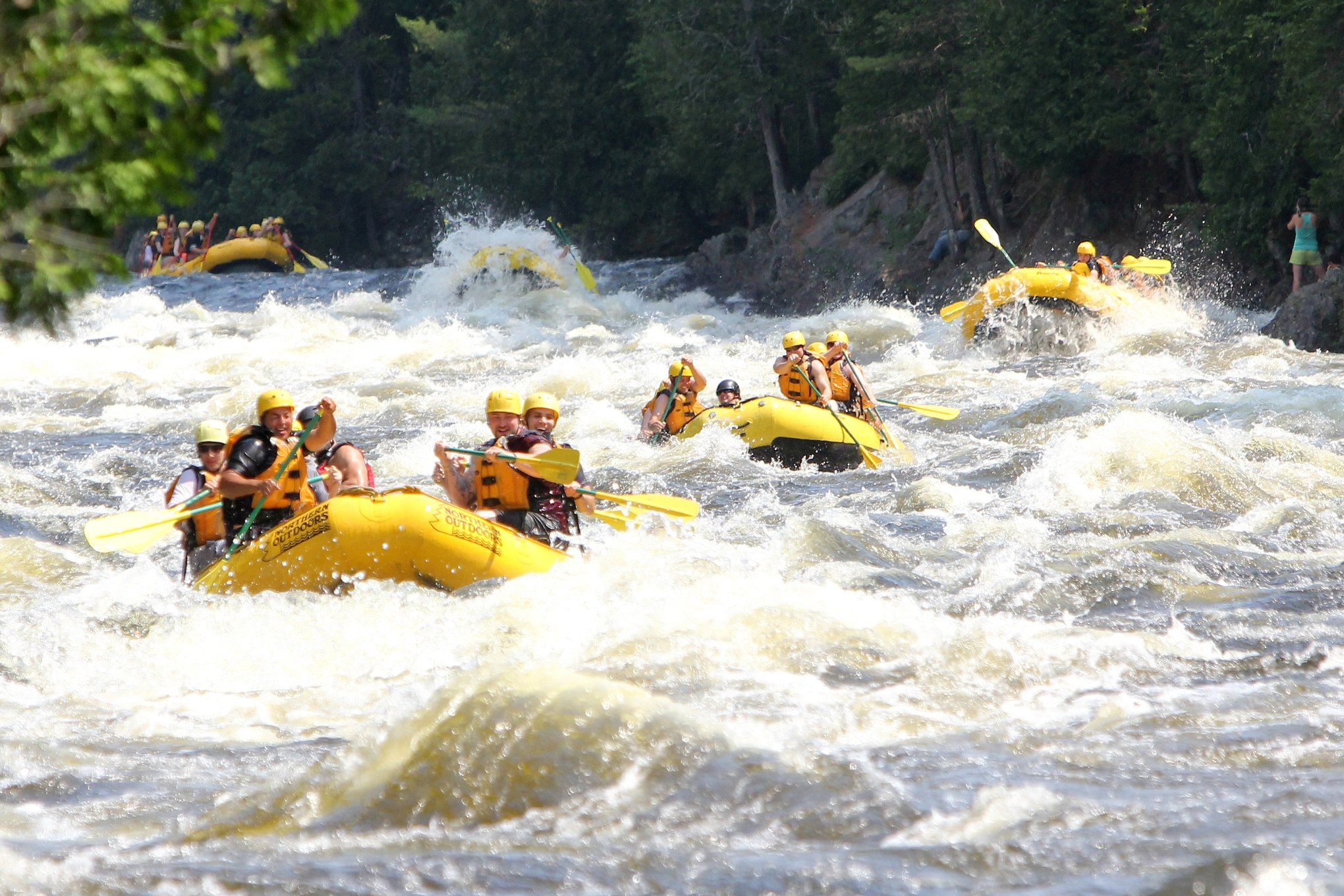 White water fun on the Kennebec River