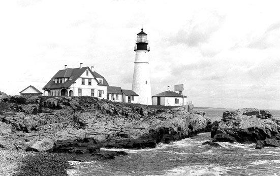 Historic Coast Guard photo of Portland Head Light