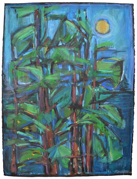 Moon and Trees by David Driskell
