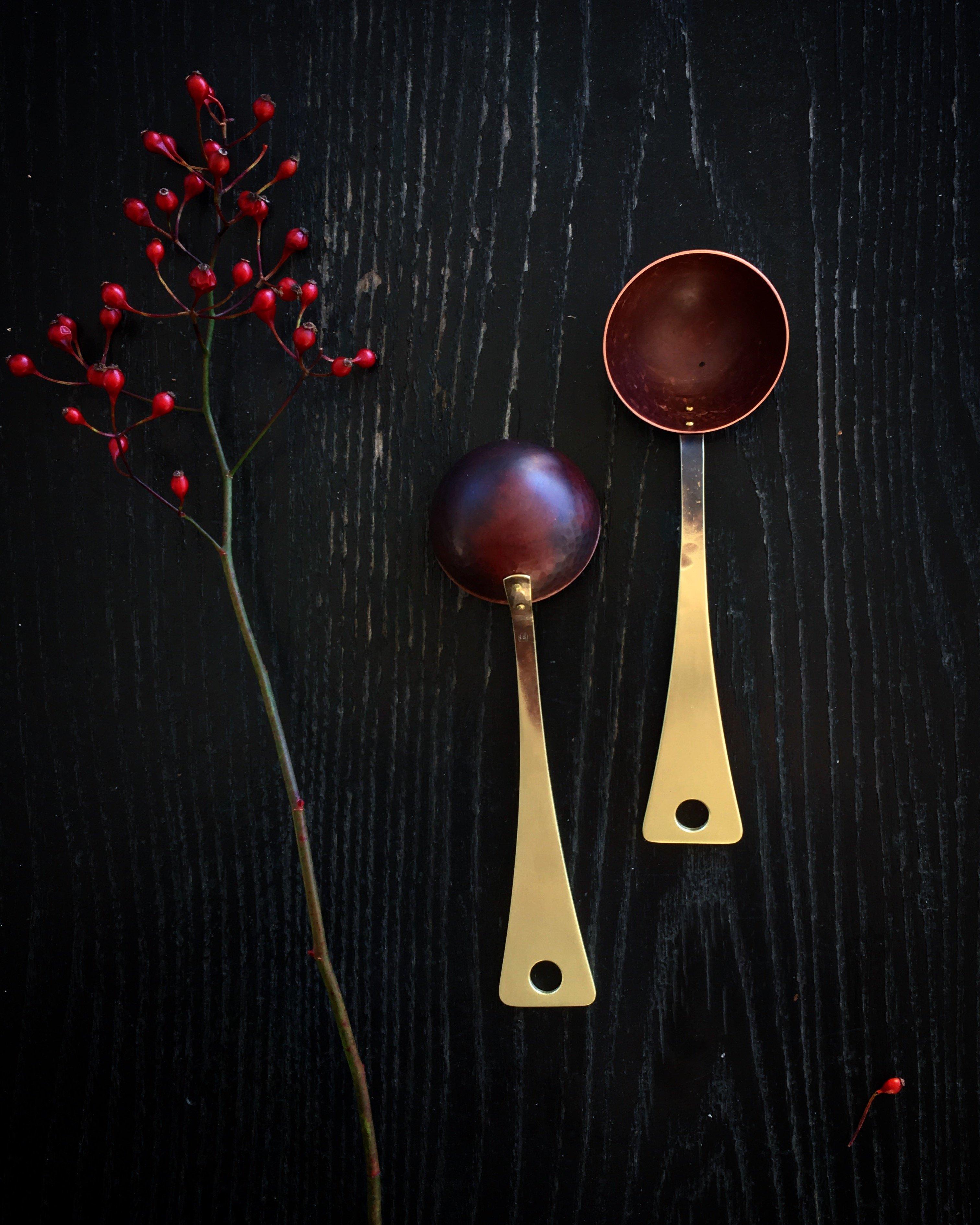 Brass & Copper Coffee Scoop