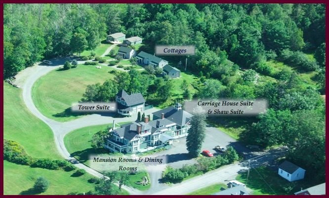 14 accommodations located on a serene 5 acre estate