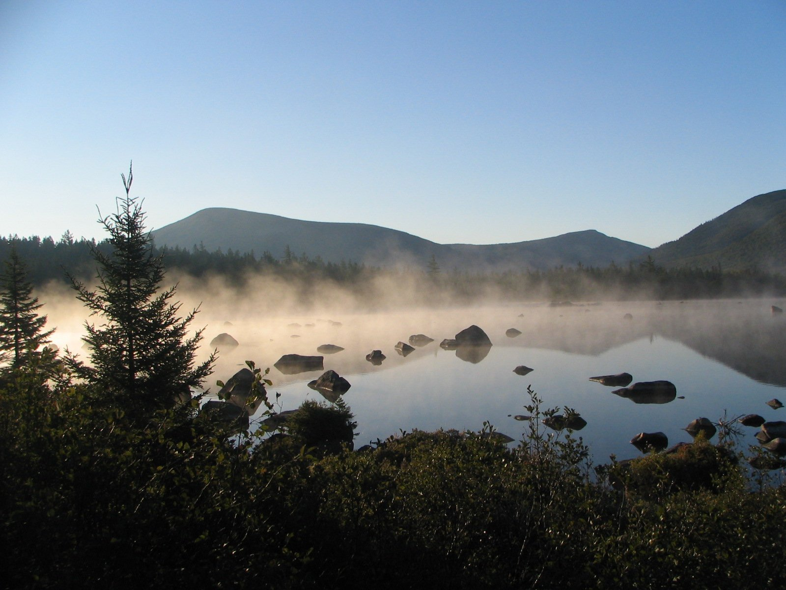 Sunrise Fog on Russell Pond - Baxter State Park