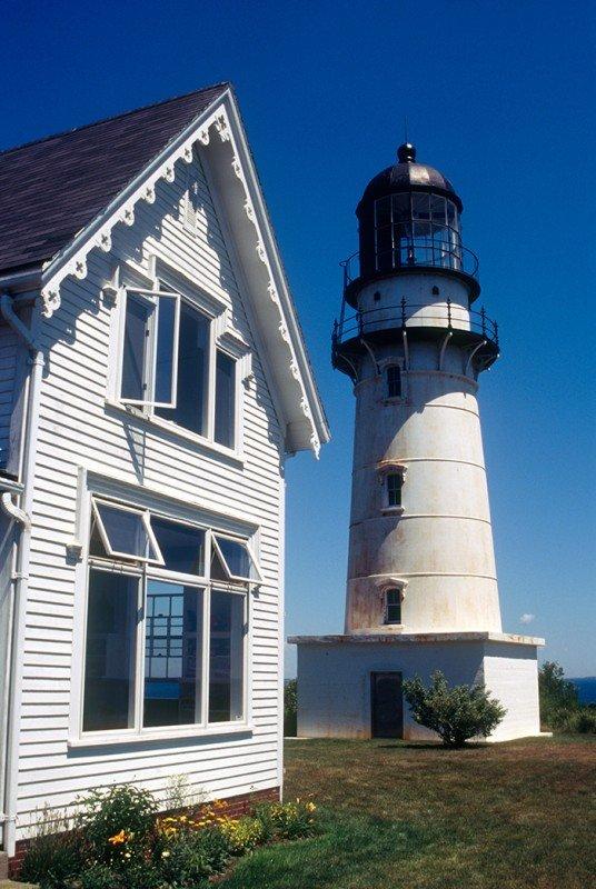 """Two Lights"" Lighthouse in Cape Elizabeth"