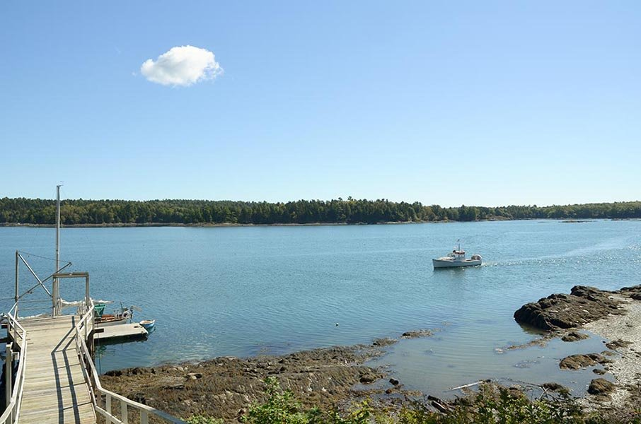 M/V MONHEGAN cruising up the Damariscotta River, Maine
