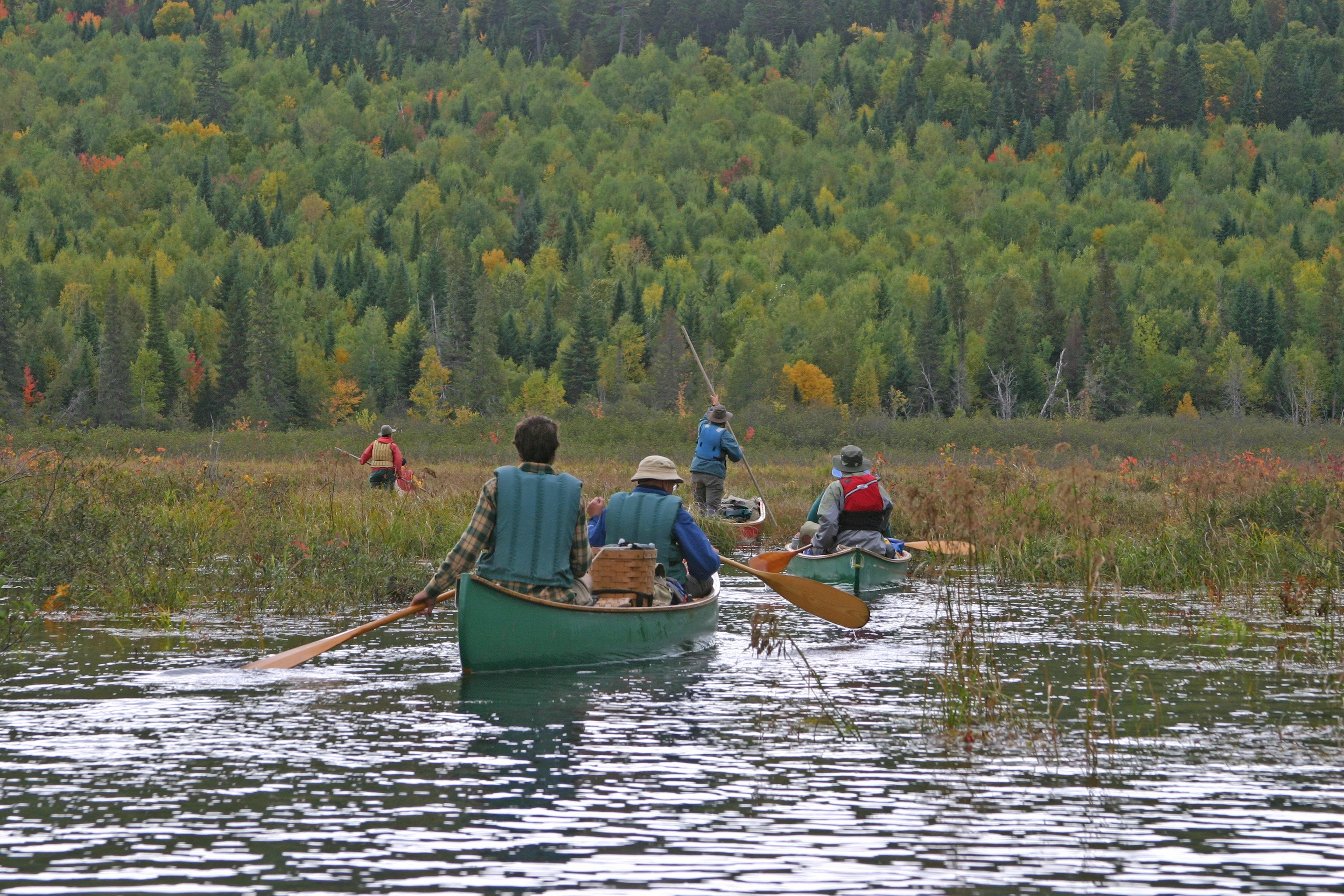 Paddling on the Allagash river.
