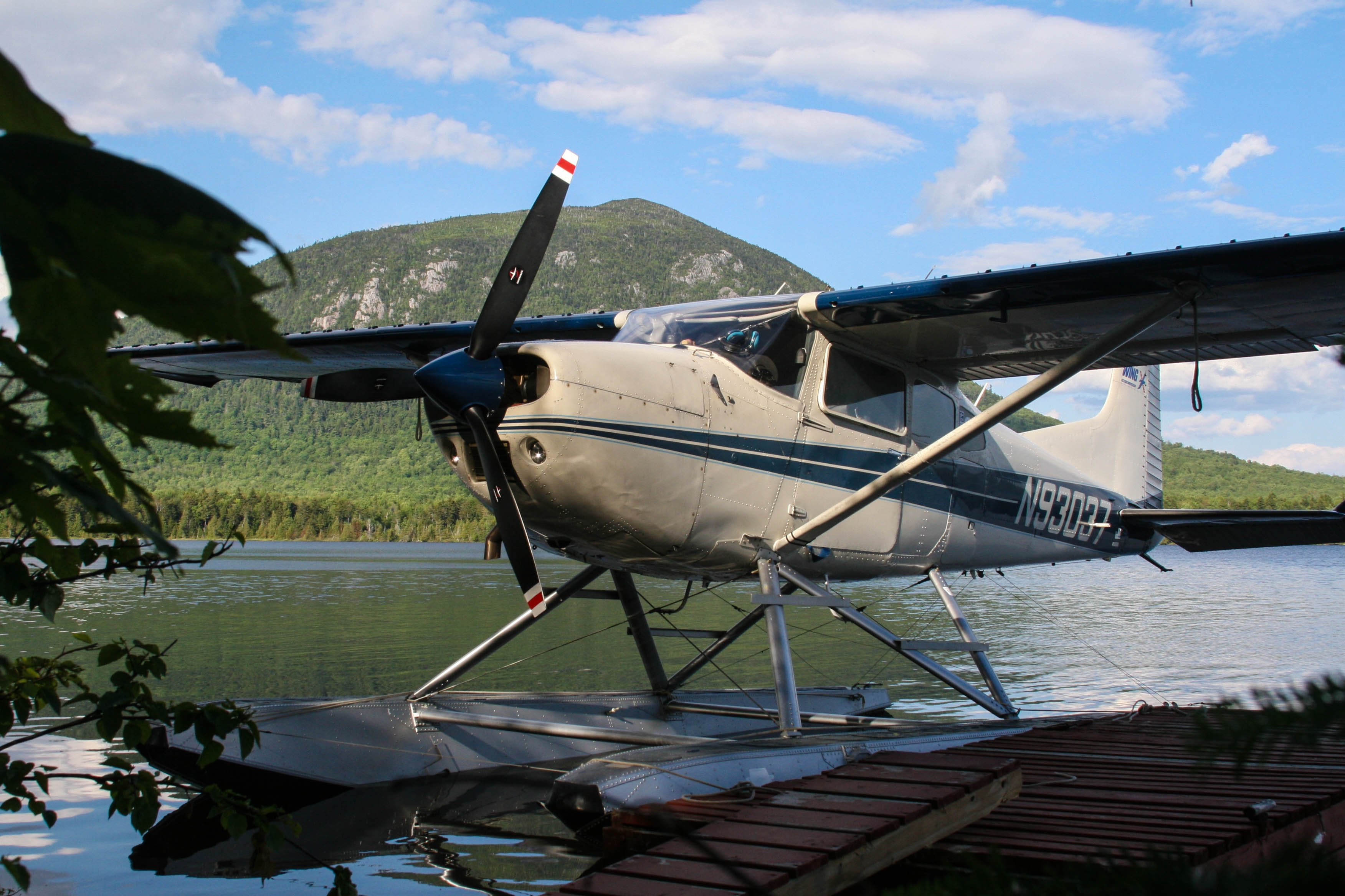 Fly in to camp on a float plane