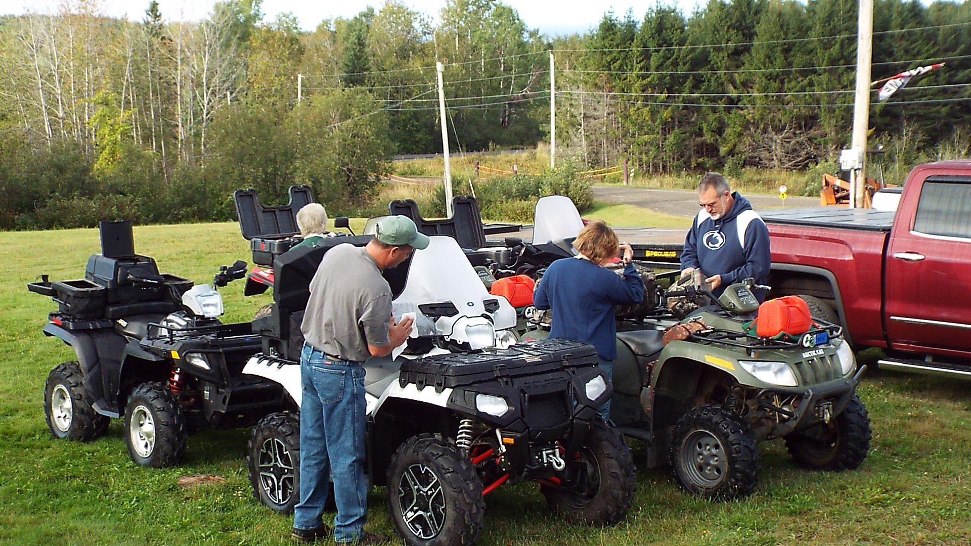 ATV Group getting ready for a day of riding 1300 miles of trails