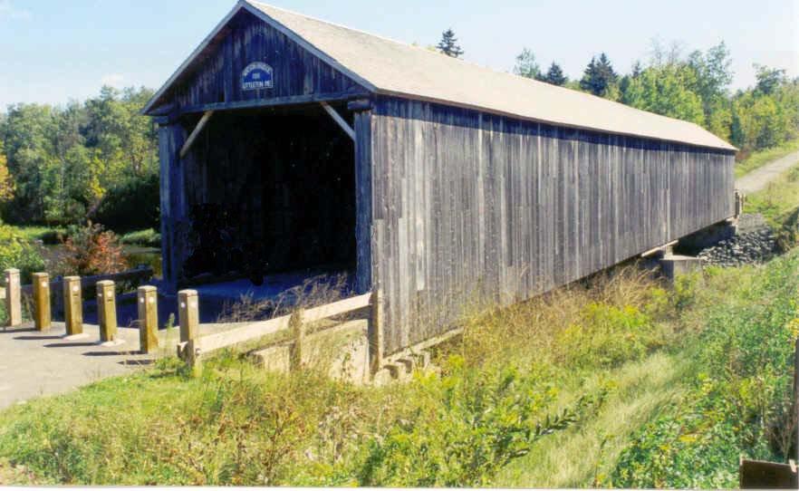 Watson Settlement Bridge, located in Littleton, Maine.