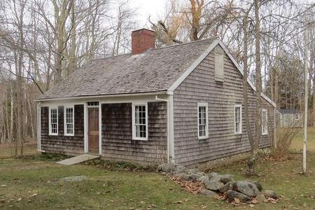 The  Conway Homestead was built around 1770 by Robert Thorndike, the first White settler in Camden. Thorndike's son Robert Jr. was born in the house in 1773, who was one of the first White children born in the area.