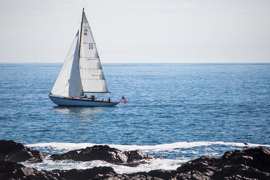 Sailboat off Perkins Cove