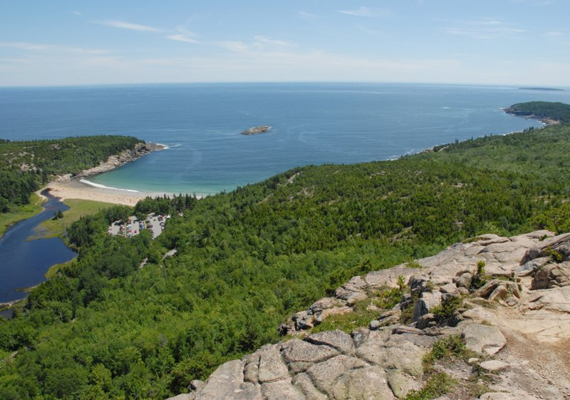 Looking at Acadia National Partk from the Beehive.