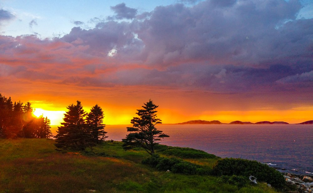 Watch beautiful sunsets from our 2nd story deck. See the changing light on the mountains of Acadia National Park in the distance.