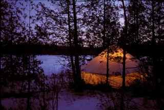 A winter camp