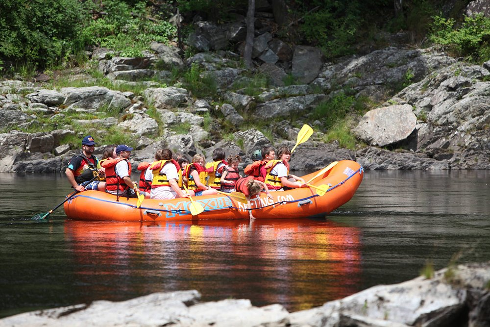 Free rafting rides in the gorge are sponsored by Moxie Outdoor Adventures.