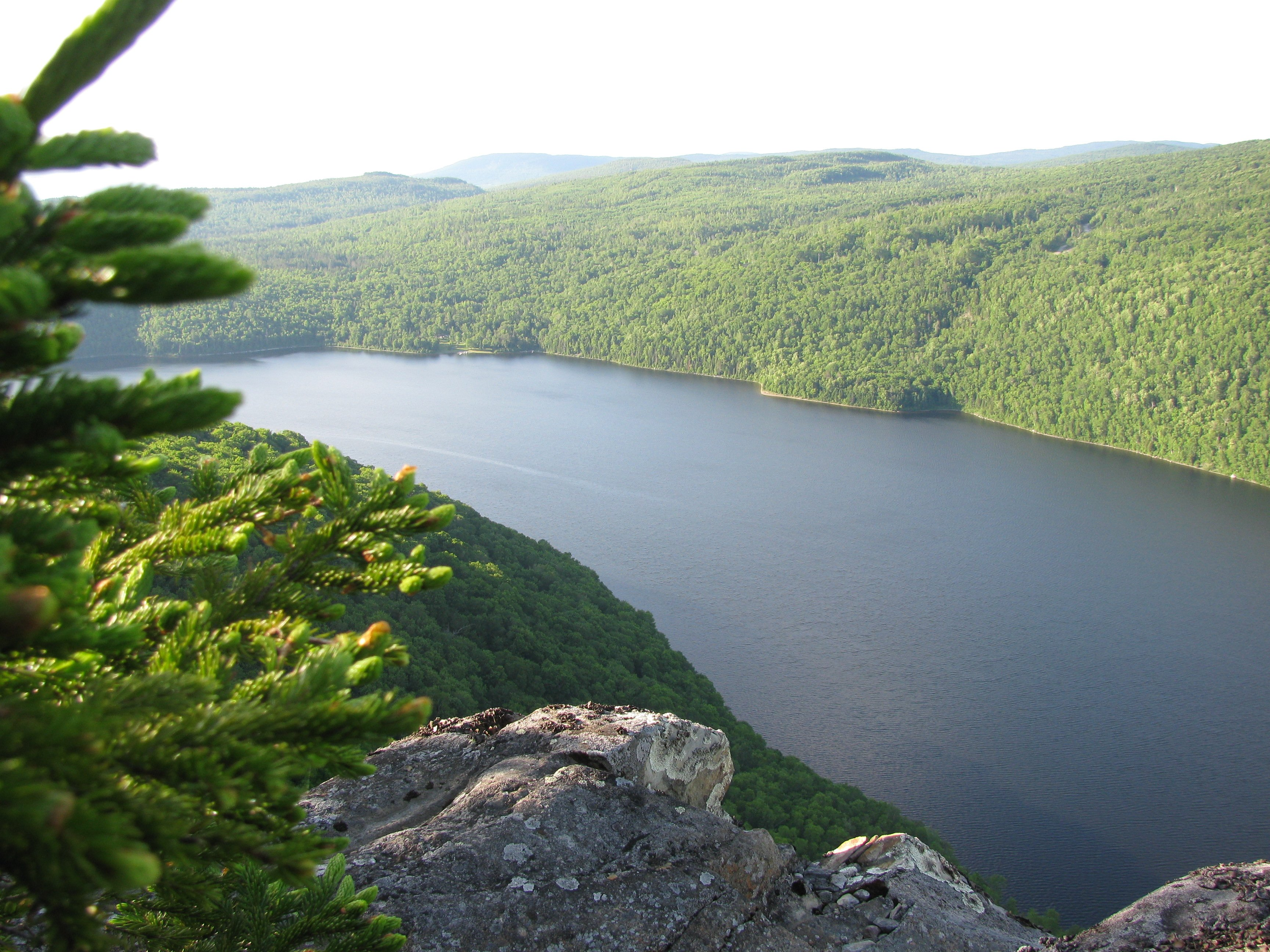 The view of the pond from Enchanted Lookout on the summit of Bulldog Mountain