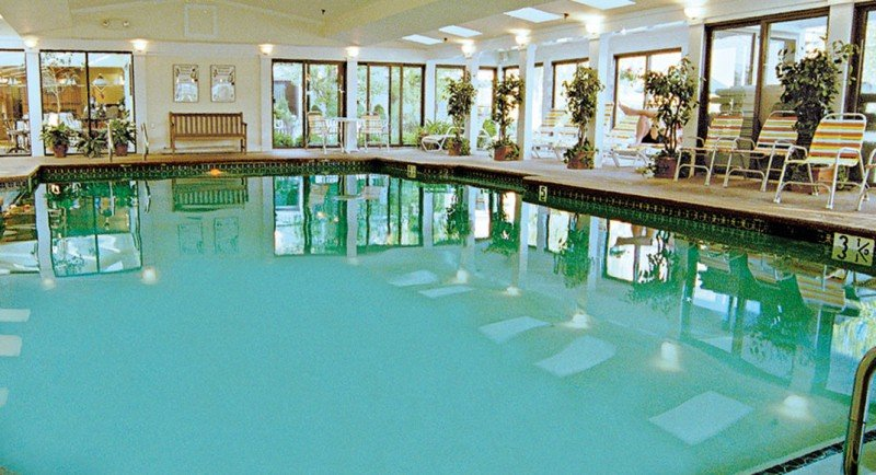 Heated indoor pool and holiday season specials at Meadowmere Resort Ogunquit Maine
