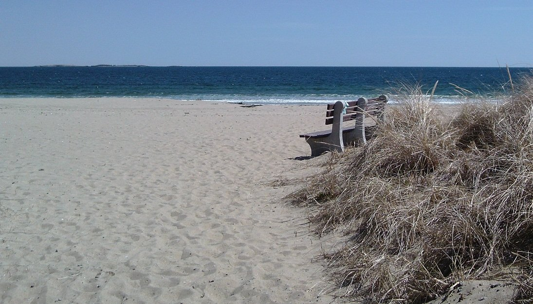 In about 45 seconds, you can walk from the front door of the Guesthouse to gorgeous Old Orchard Beach.